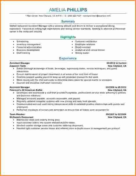 15 Good Resume for assistant Manager
