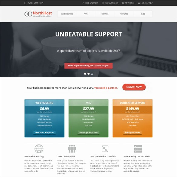 15 Hosting PHP themes & Templates