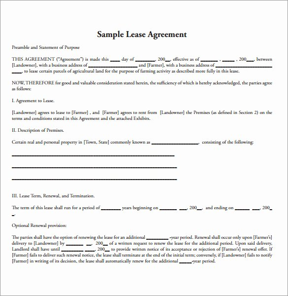 15 Land Lease Agreements – Samples Examples & format