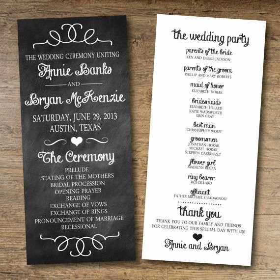 15 Lovely Free Printable Wedding Program Templates All