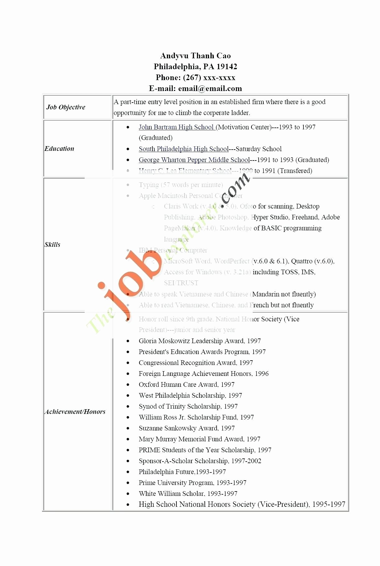 15 Luxury the Resume Center