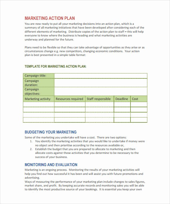 15 Marketing Action Plan Templates to Download for Free