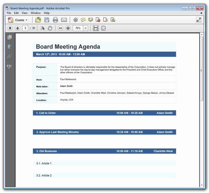 15 Meeting Agenda Templates Excel Pdf formats
