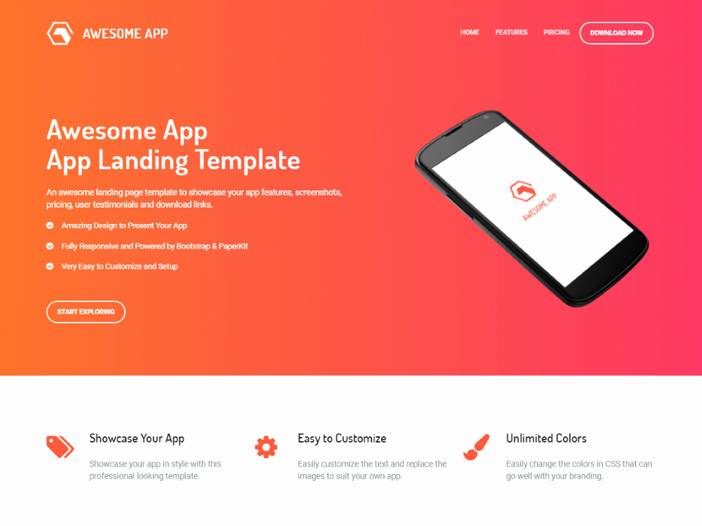 15 Mobile App Landing Page Templates Built with Bootstrap