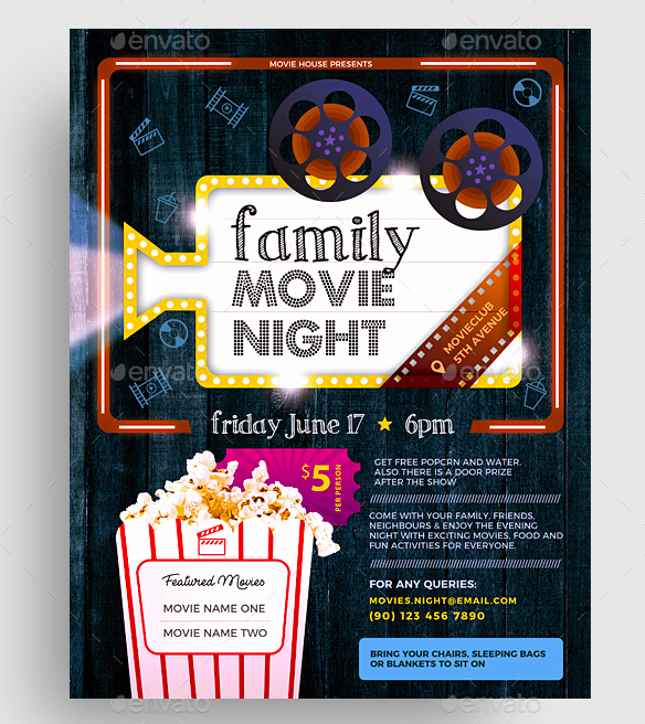 15 Movie Flyer Designs & Templates Psd Word Publisher