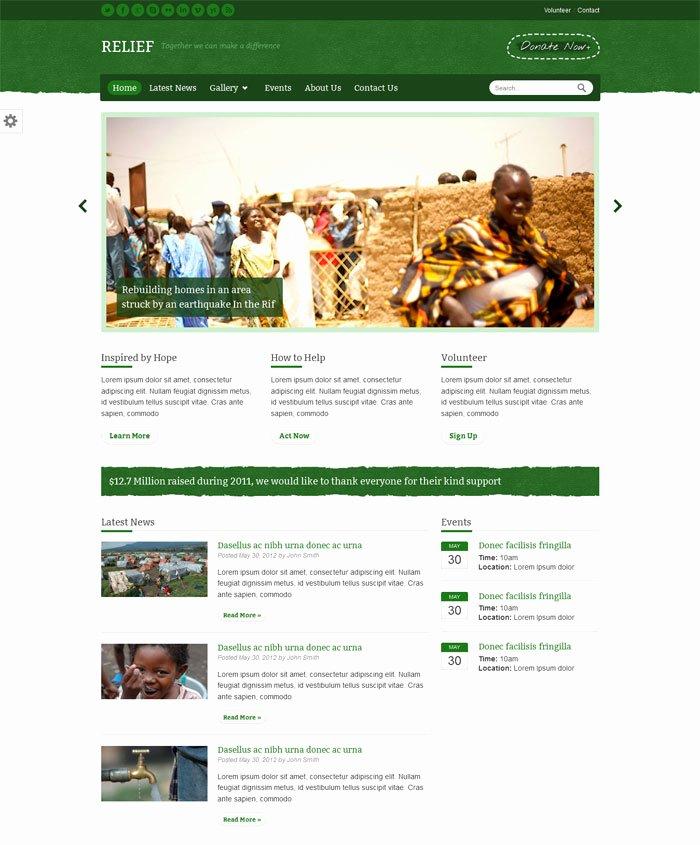 15 Non Profit Website Design HTML Templates