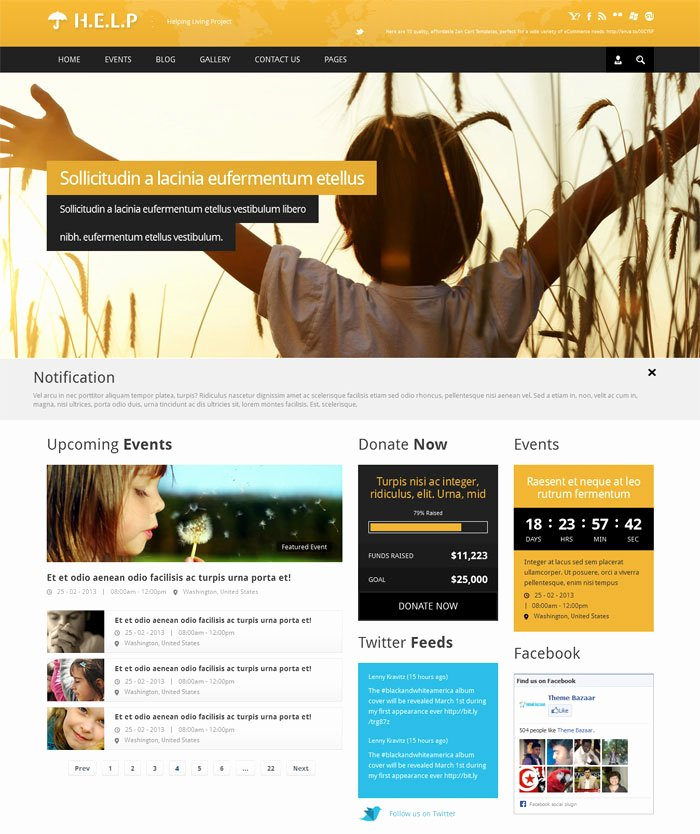 15 Non Profit Website Design HTML Templates