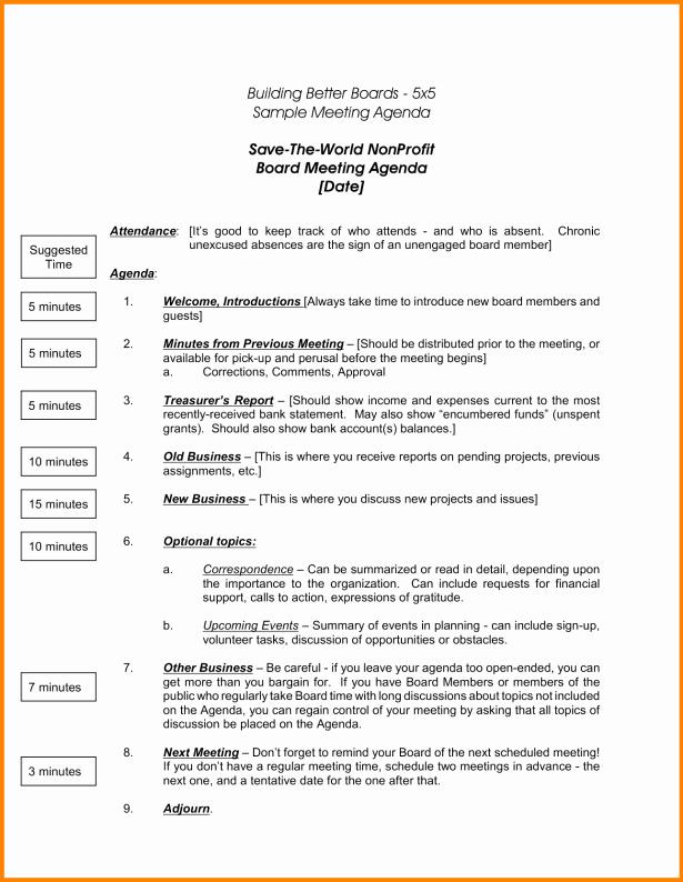 15 Nonprofit Board Meeting Agenda Template