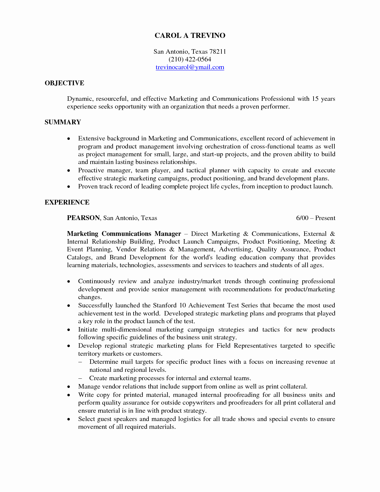 15 Objective Resume Examples Samplebusinessresume