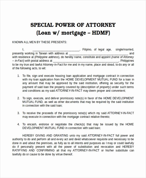 15 Power Of attorney Templates Free Sample Example