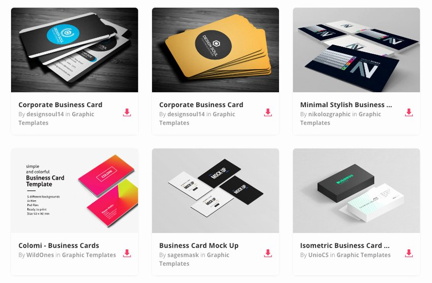 15 Premium Business Card Templates In Shop