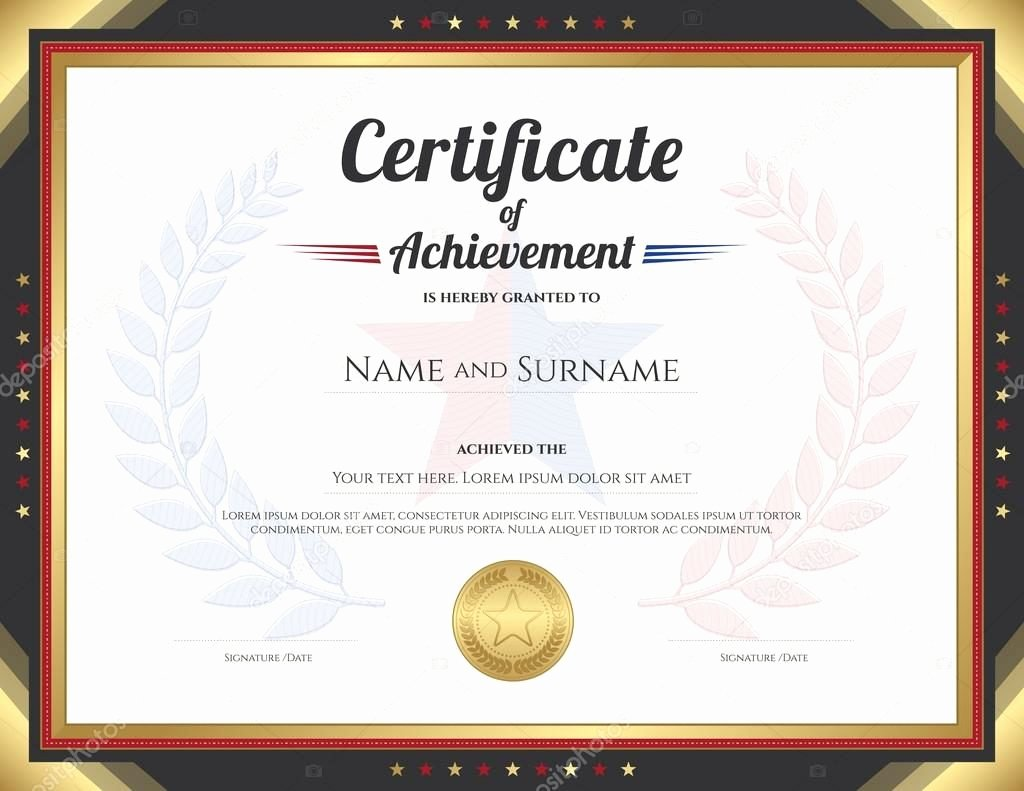 15 Professional Certificate Of Achievement Templates