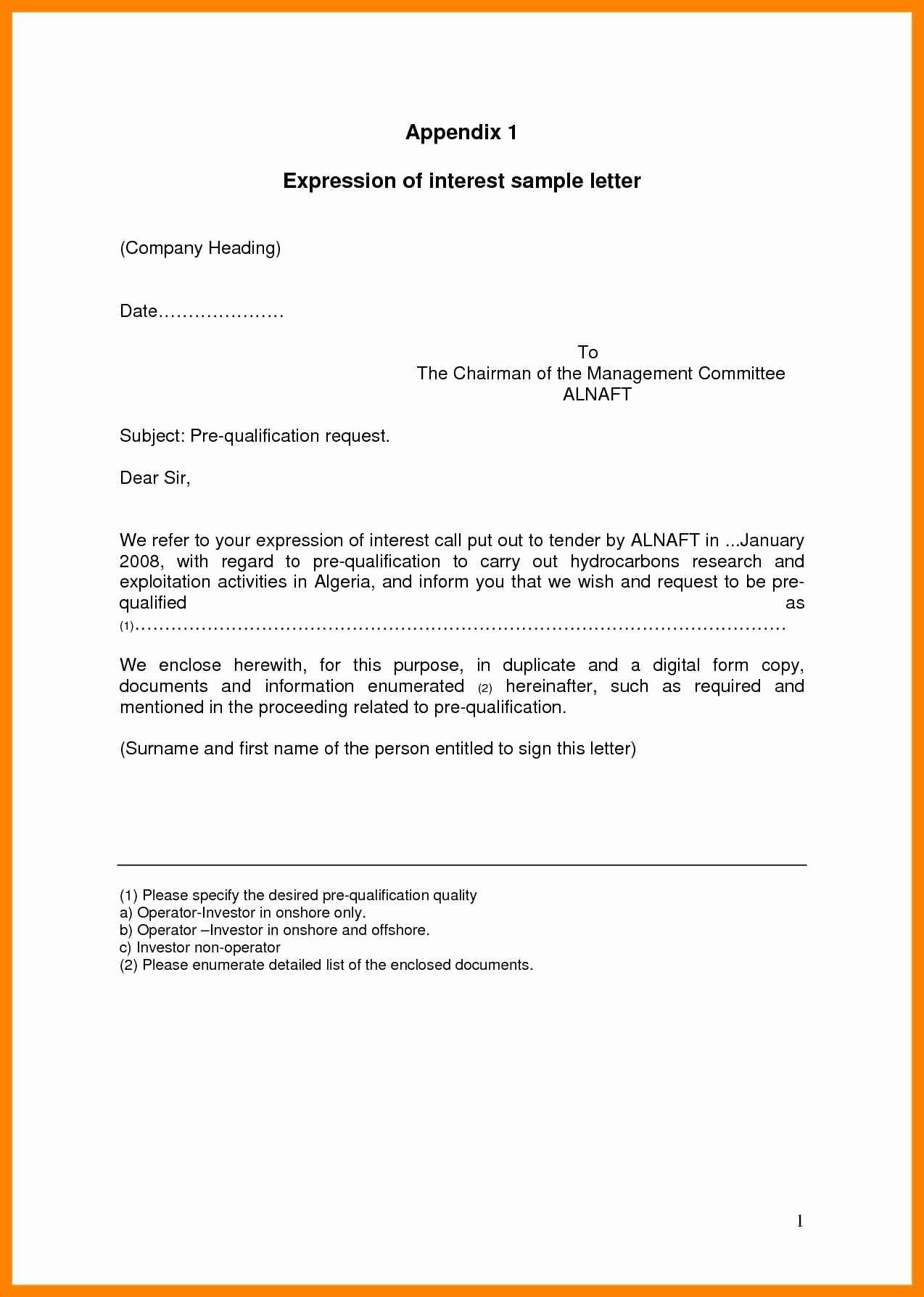 15 Promotion Letter Of Interest