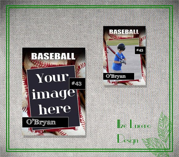15 Psd Football Trading Card Baseball Trading