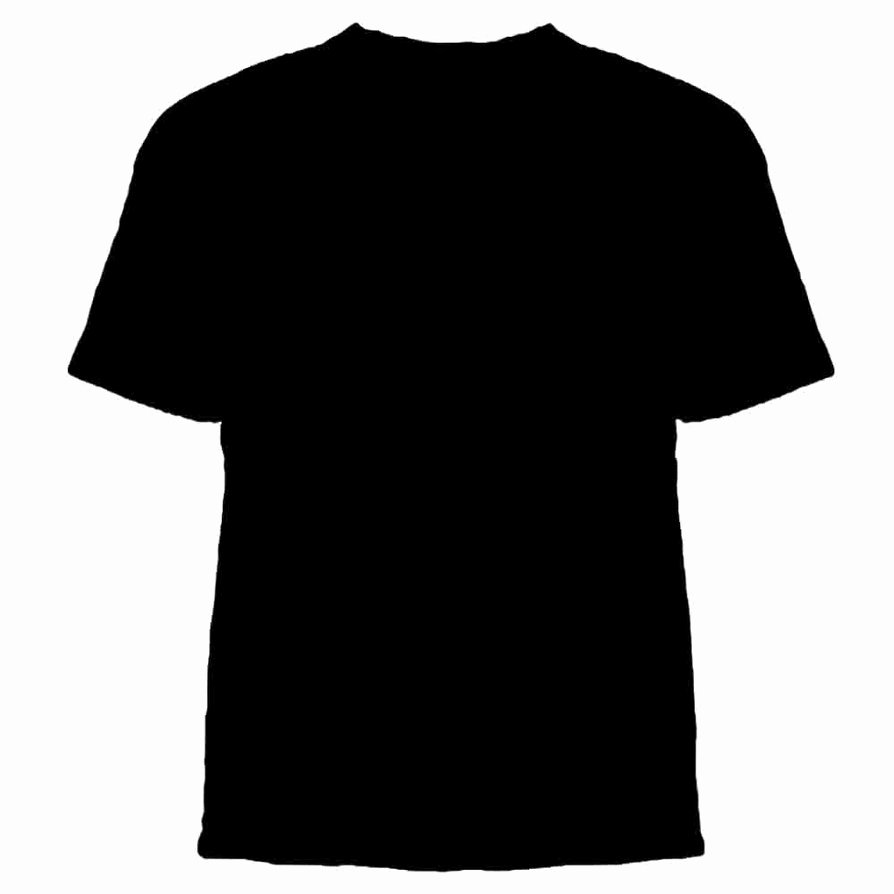 15 Psd T Shirt Template Front and Back Black T