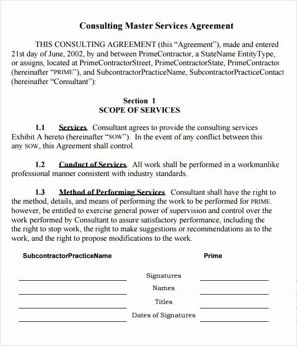 15 Sample Master Service Agreement Templates