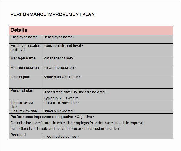 15 Sample Performance Improvement Plan Templates