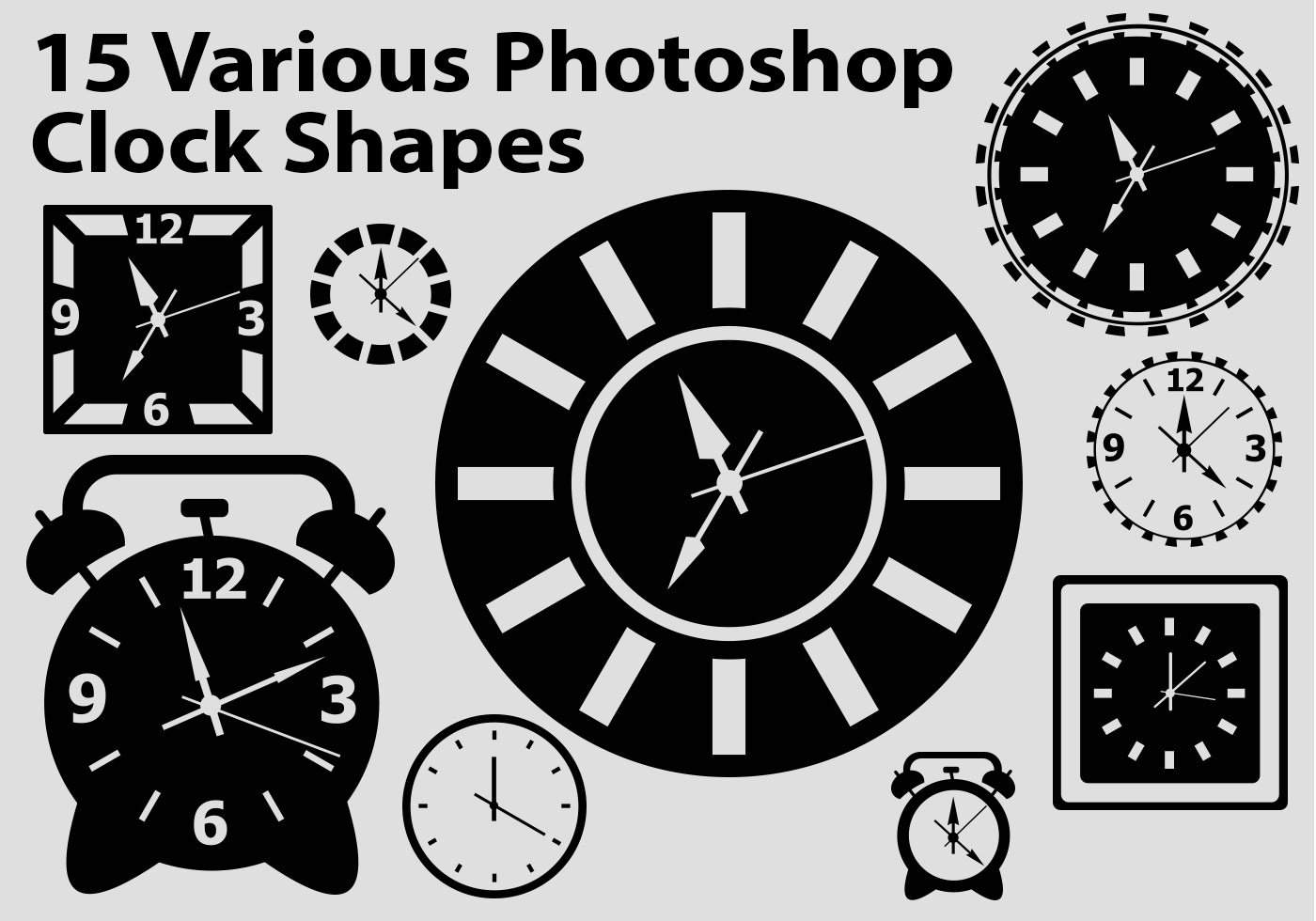 15 Shop Custom Shapes Cute Clock Faces Csh Free