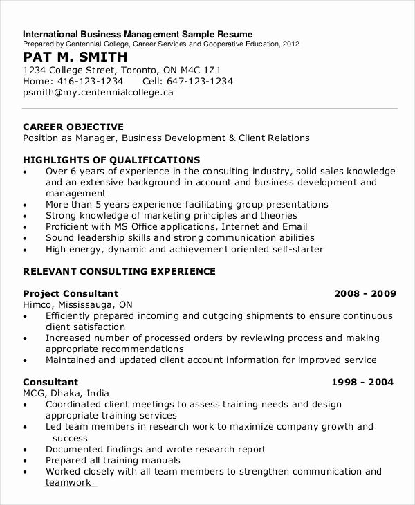 15 Simple Business Resume Templates Pdf Doc