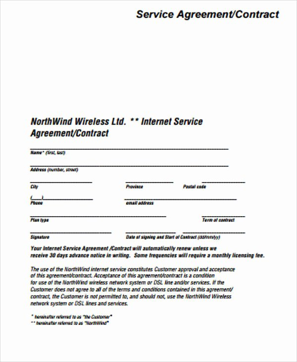15 Simple Service Contract Samples