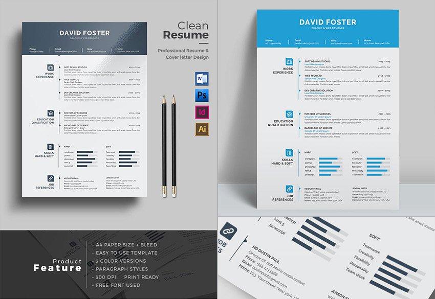 15 Template Resume Ms Word Profesional Dengan Desain