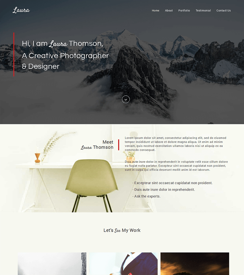 bootstrap template landing page