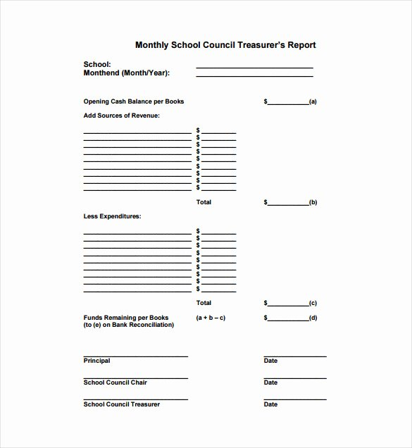15 Treasurer Report Templates Pdf Doc