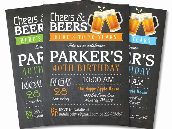 16 40th Birthday Invitations Psd Vector Eps Ai