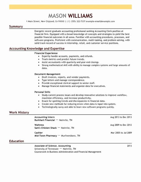 16 Amazing Accounting & Finance Resume Examples