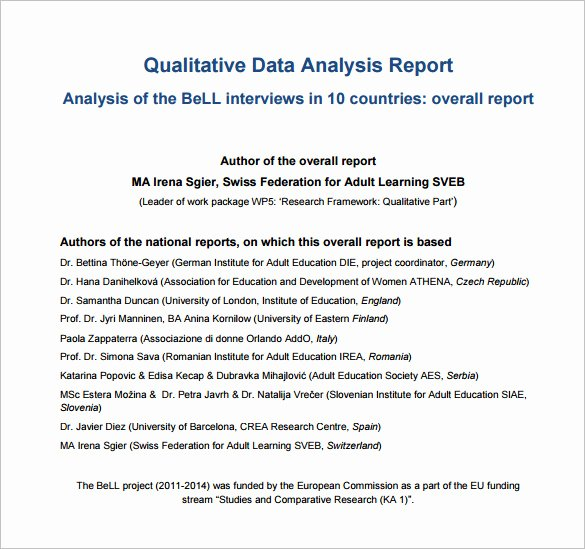 16 Analysis Templates Doc Pdf Excel