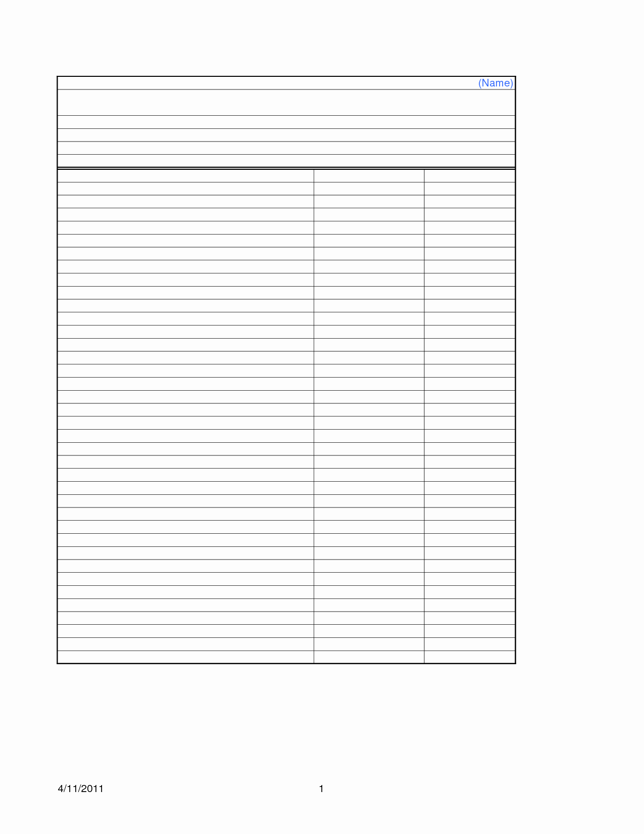 16 Best Of Blank Worksheet Templates Blank 10