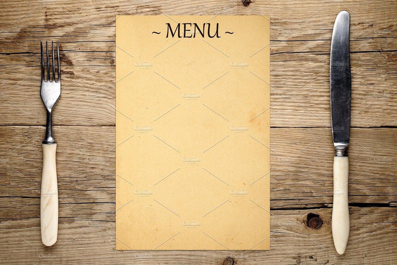 16 Blank Menu Designs Psd Vector format Download
