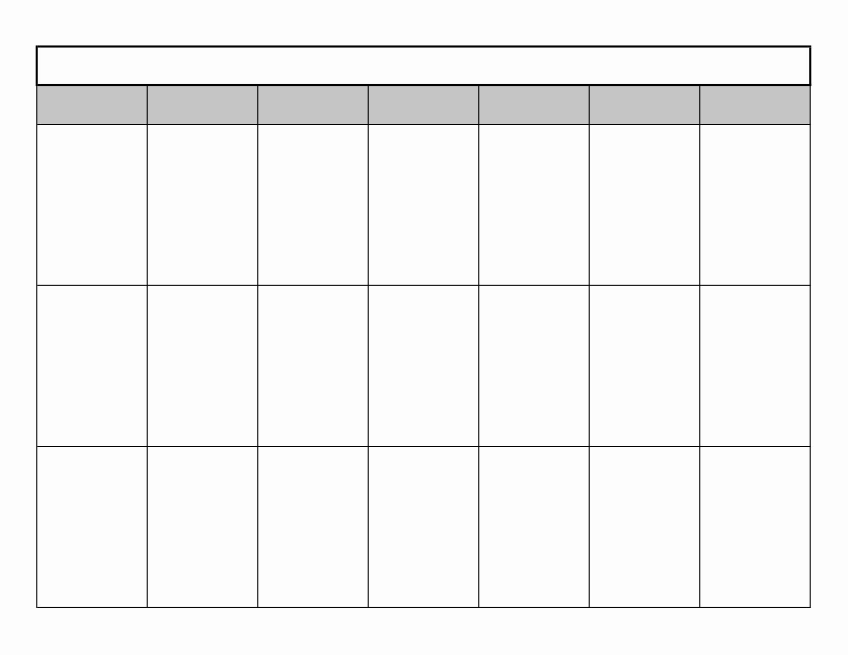 16 Blank Month Calendar Template Blank Monthly