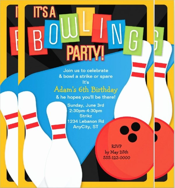 16 Bowling Invitation Templates