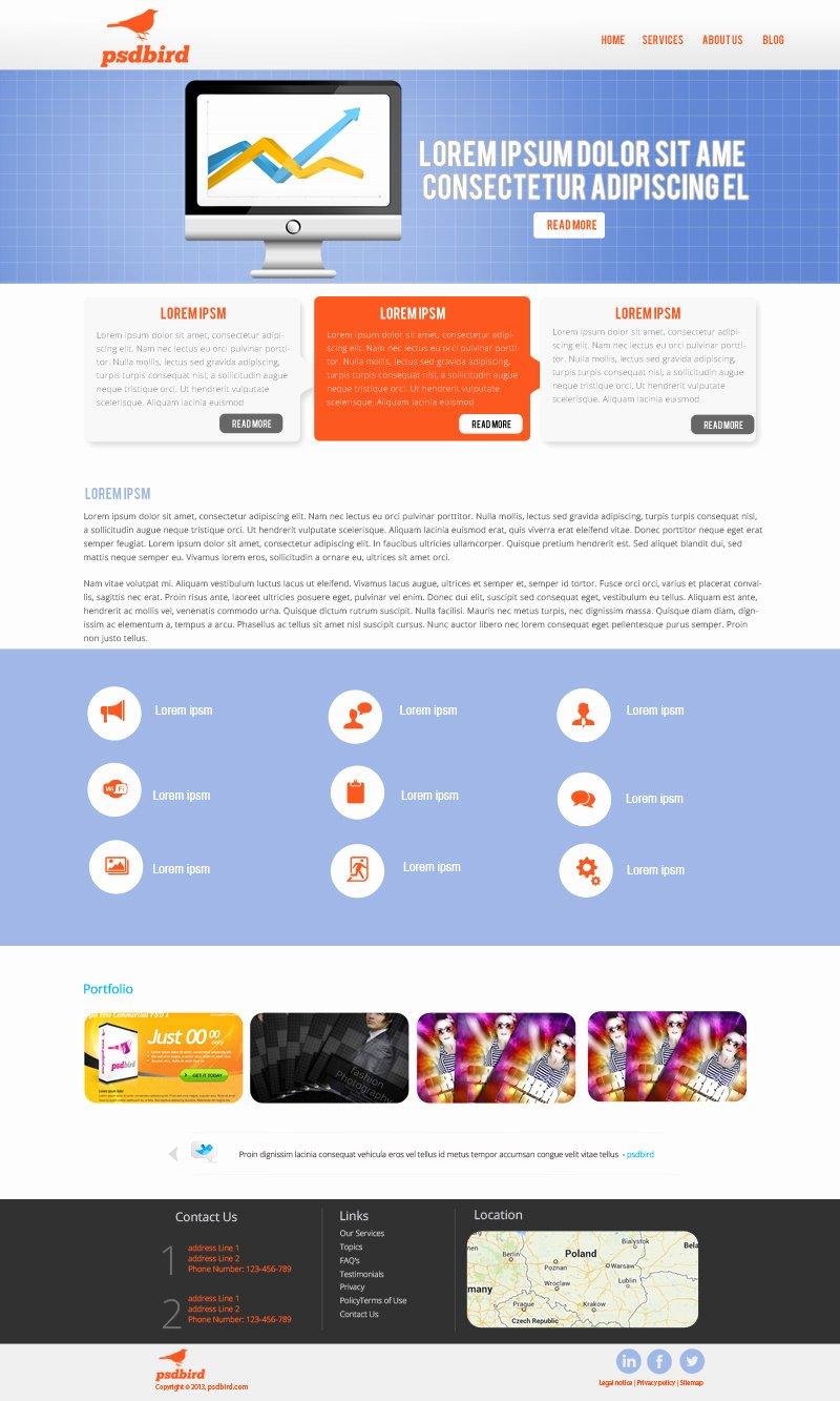 16 Business Web Psd Templates Business Website