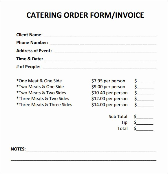 16 Catering Invoice Samples