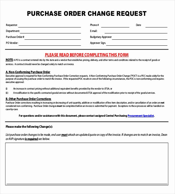 16 Change order Templates – Free Sample Example format