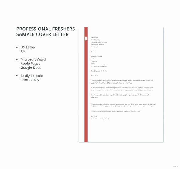 16 Cover Letter Templates – Free Sample Example format