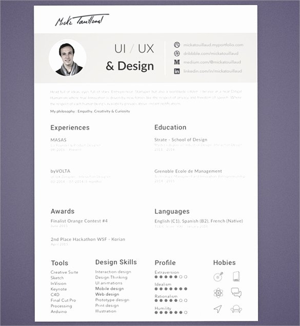 16 Designer Resume Template – Samples Examples & format
