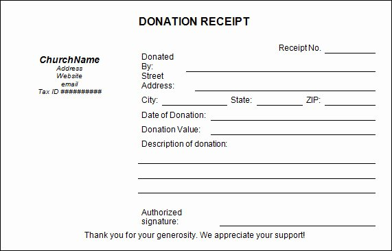 16 Donation Receipt Template Samples