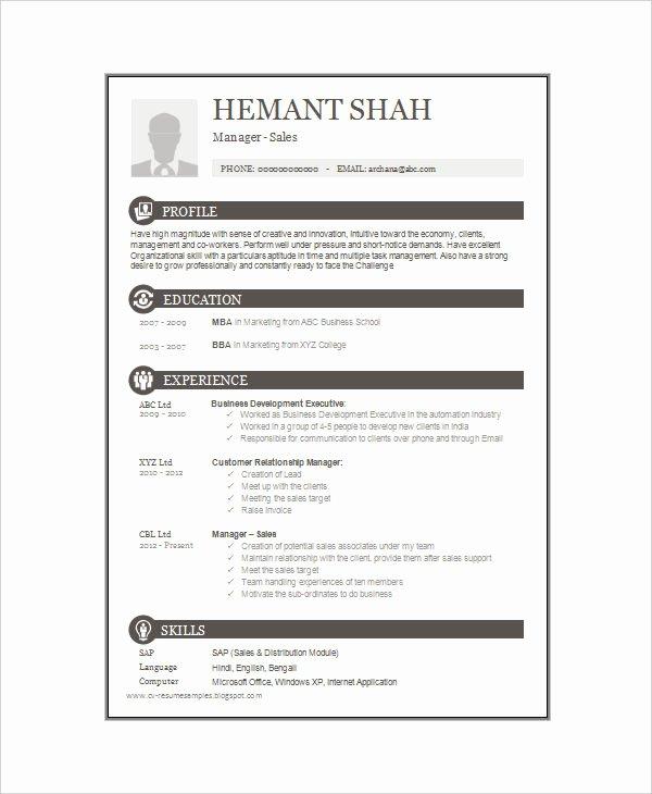 16 E Page Resume Templates