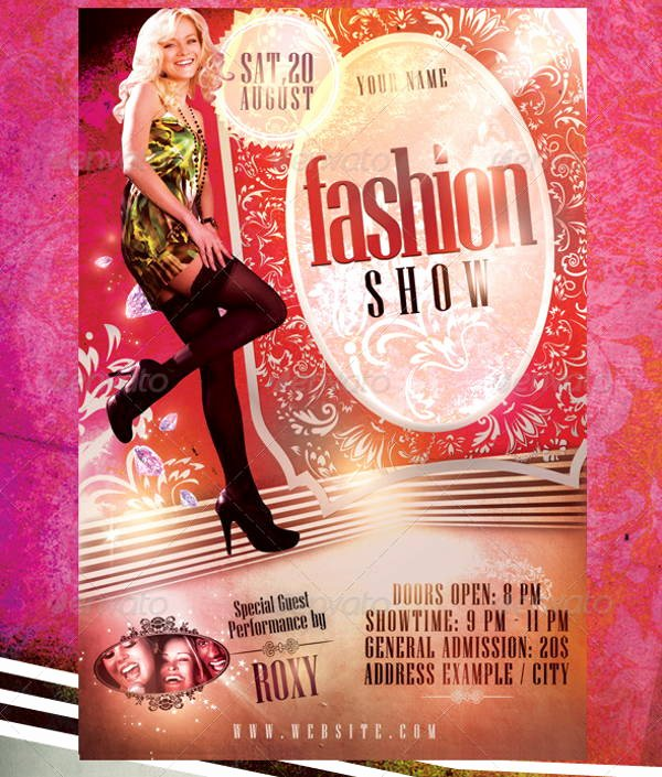fashion show flyers