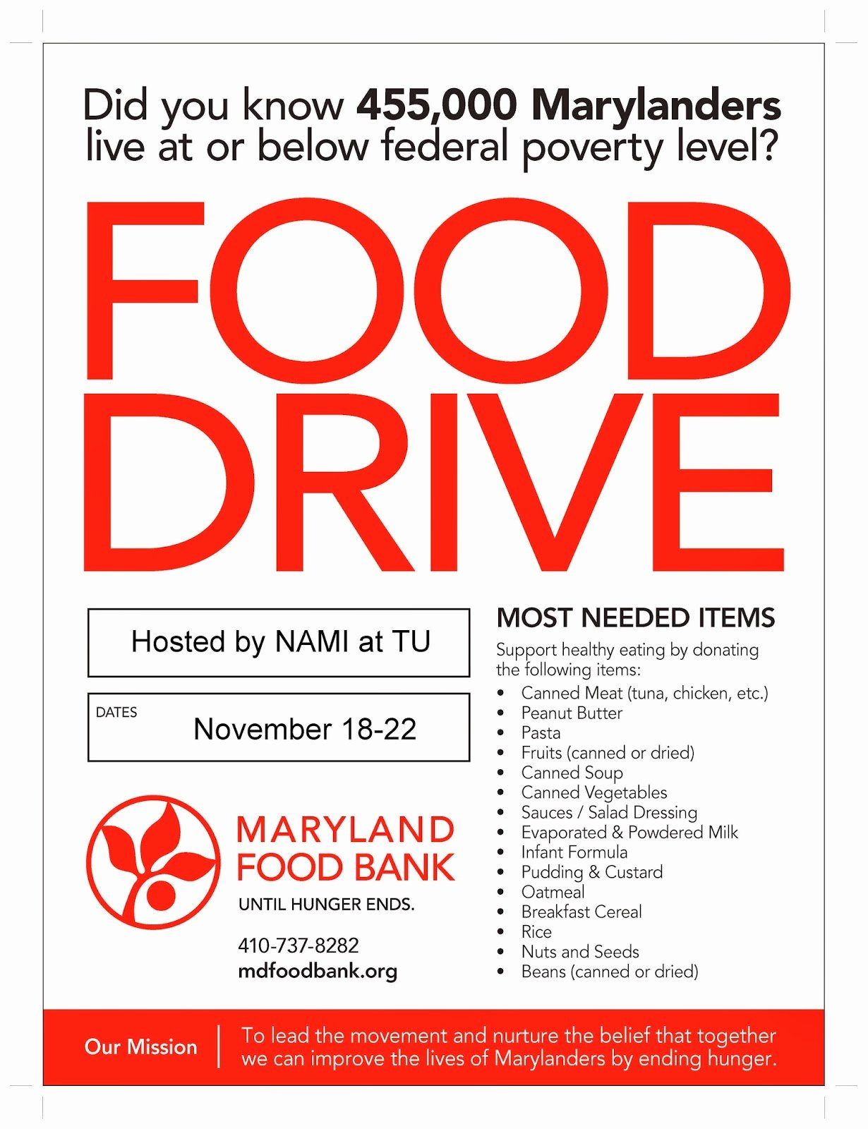 16 Food Drive Flyer Template Free Food Drive