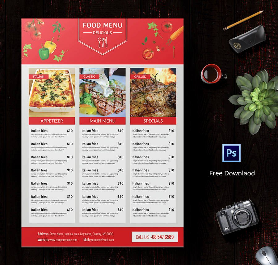 16 Free Menu Templates Cafe Restaurant Party