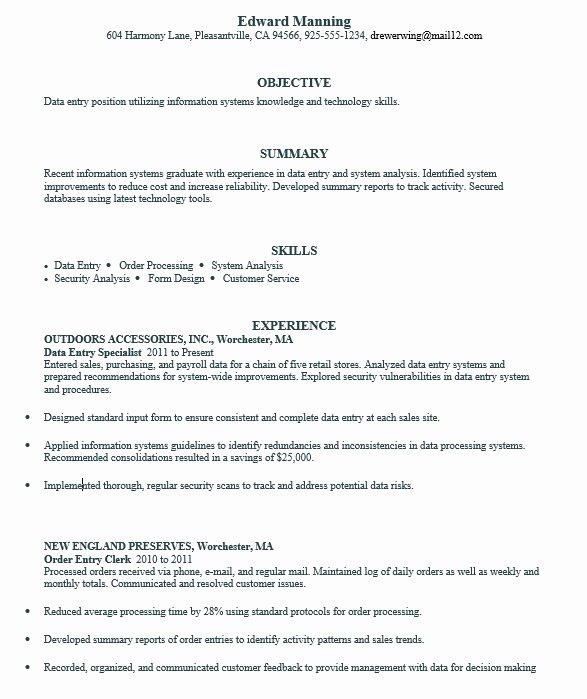 16 Free Sample Data Entry Specialist Resumes Best