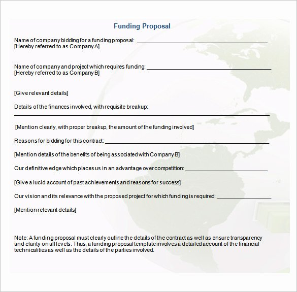 16 Funding Proposal Templates Word Pdf Pages