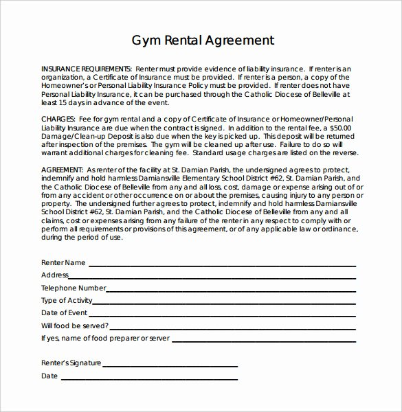 16 Gym Contract Templates Word Docs Pages