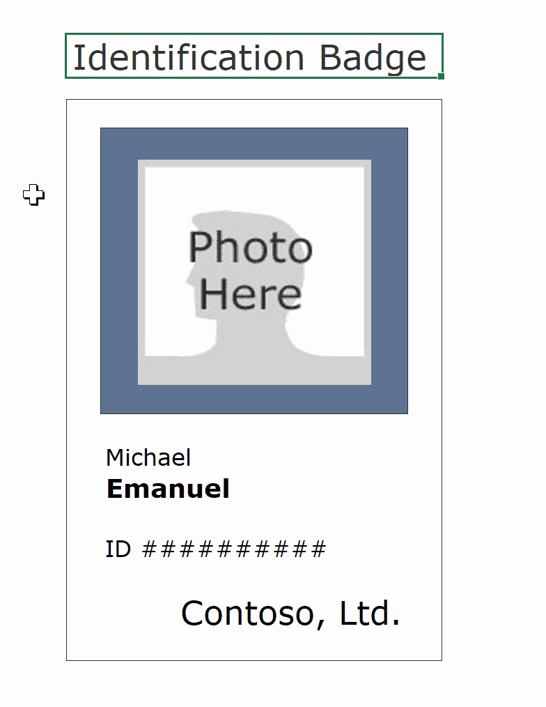 16 Id Badge & Id Card Templates Free Template Archive
