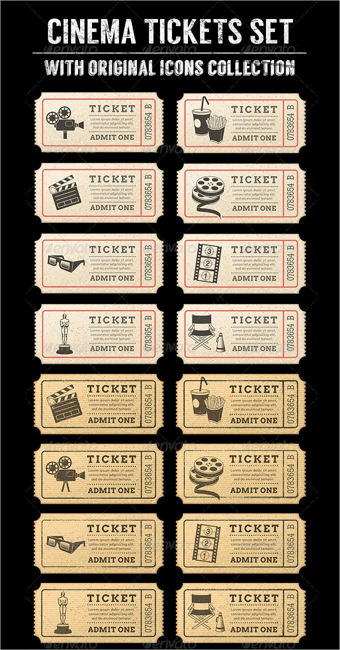 16 Movie Ticket Templates Psd Ai Word