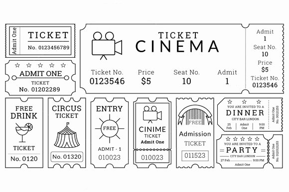 16 Movie Ticket Templates Psd Ai Word